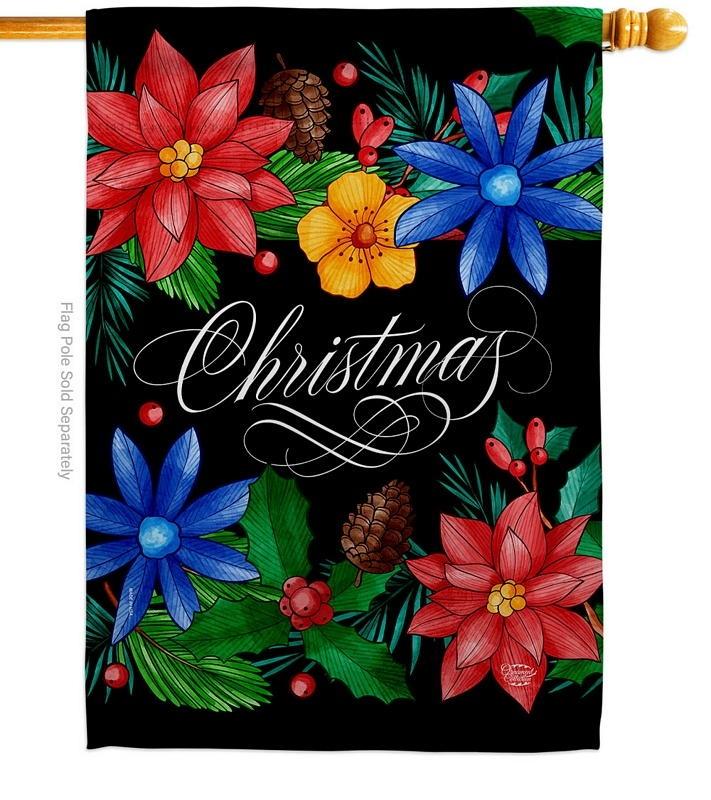 Christmas Bouquet House Flag