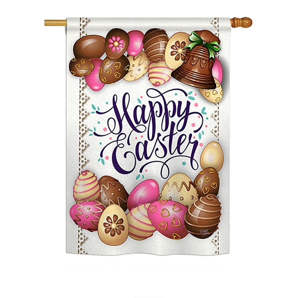 Sweet Chocolate Easter House Flag