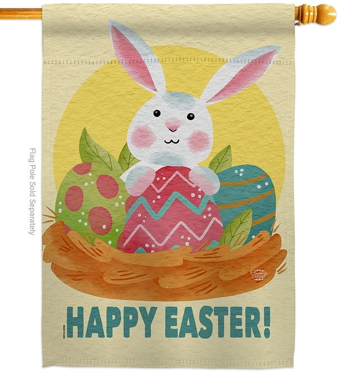 Easter Bunny Fun House Flag