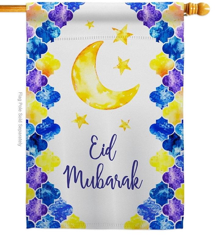 Eid Mubarak House Flag