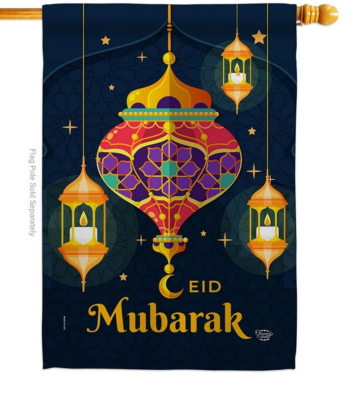 Eid Mubarak Festival House Flag