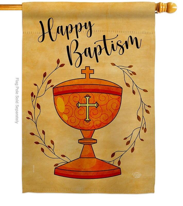 Happy Baptism House Flag