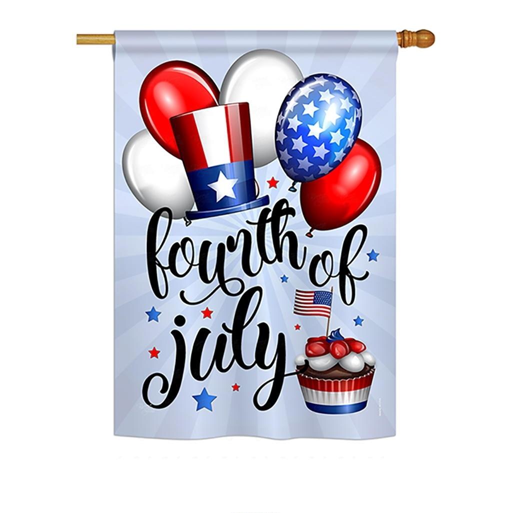 Celebrate Fourth Of July House Flag