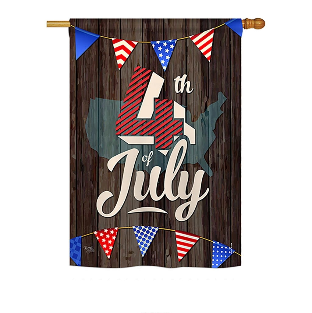 4th Of July House Flag
