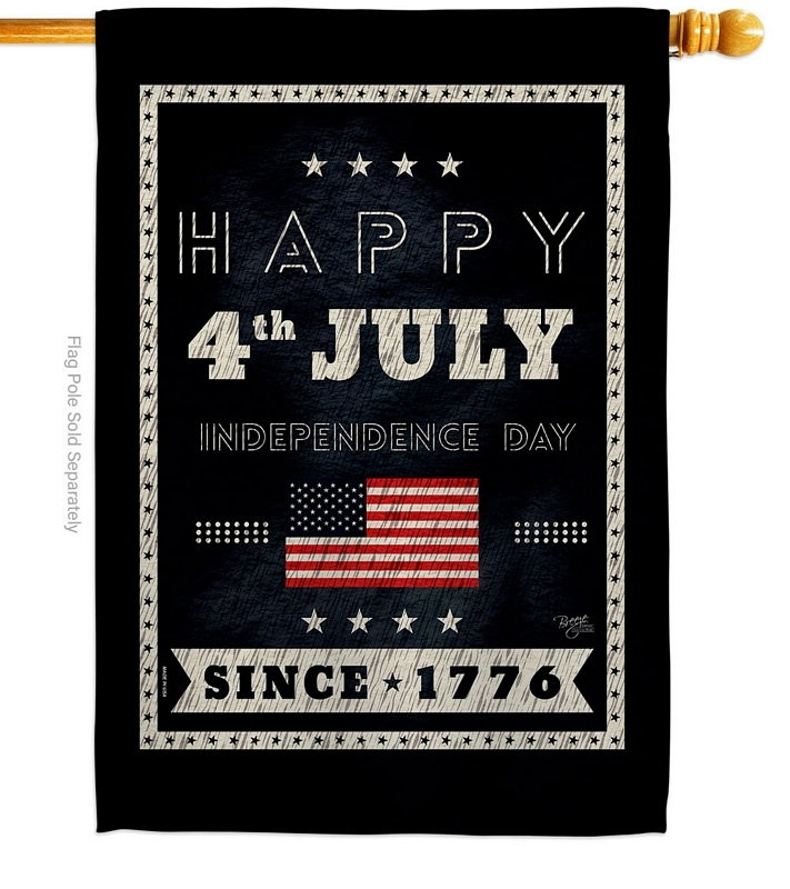 Happy 4th July House Flag