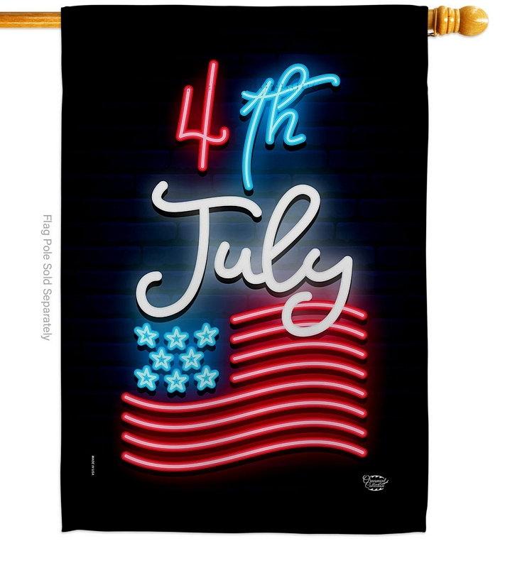 Lightful 4th July House Flag