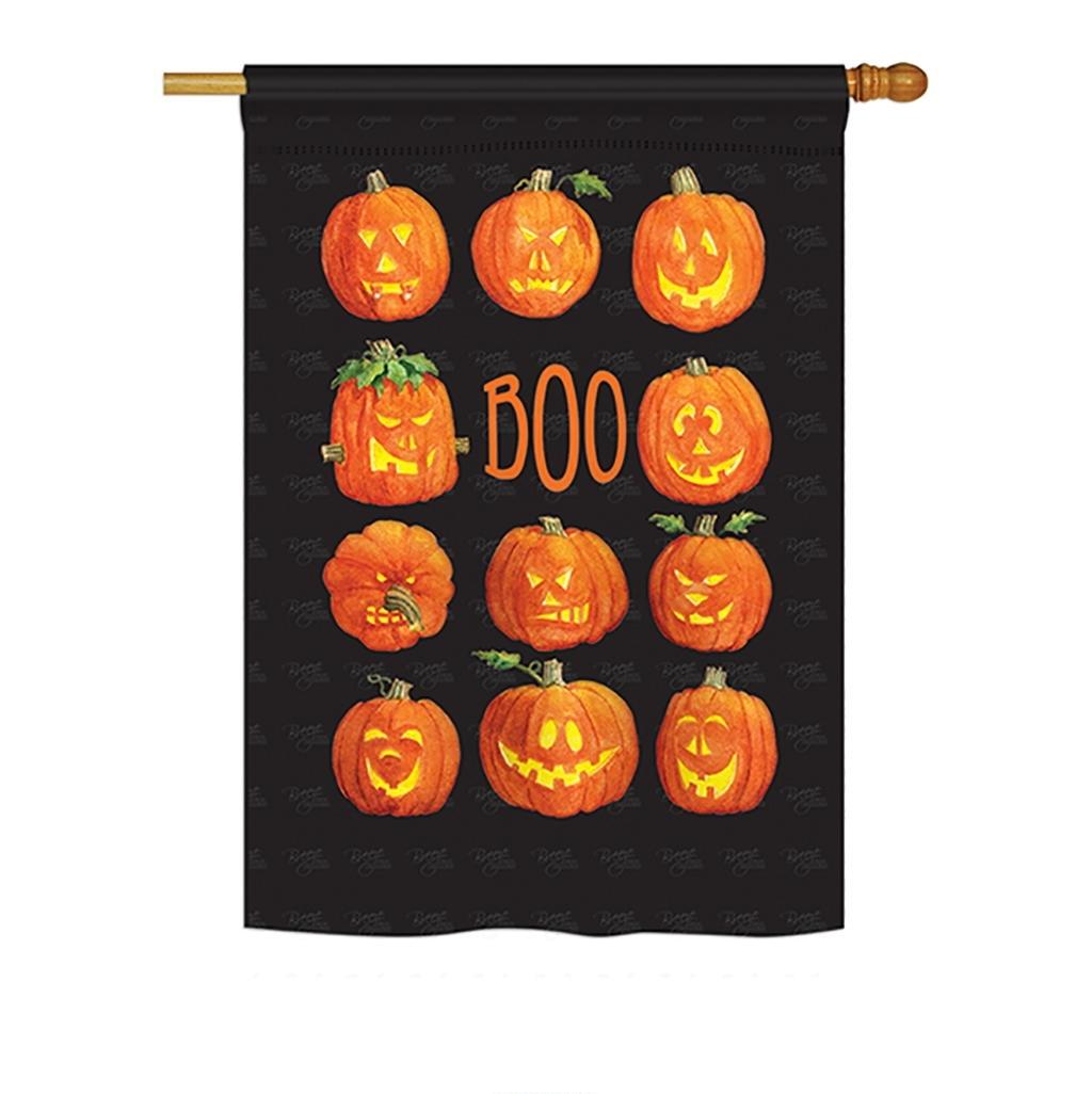 Pumpkins Boo House Flag