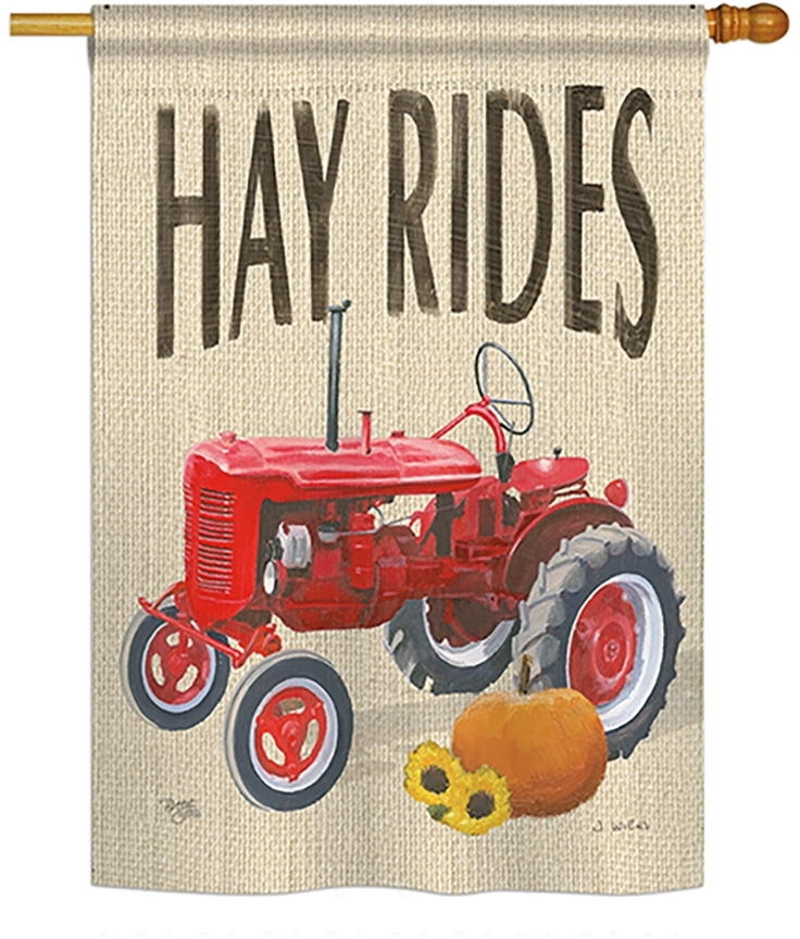 Hay Rides House Flag