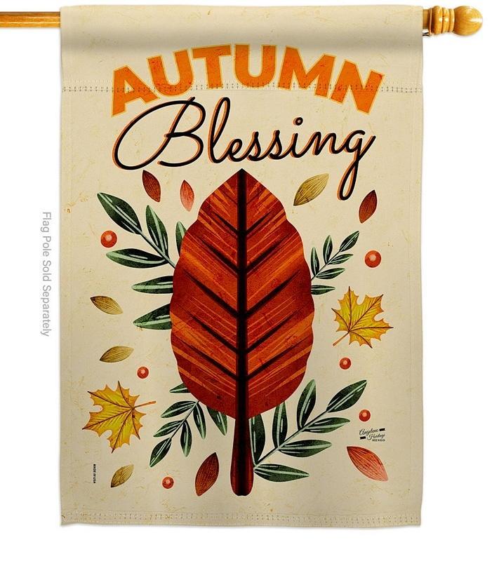 Blessing Autumn House Flag