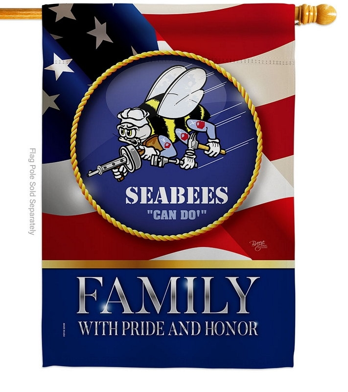US Seabees Family Honor House Flag
