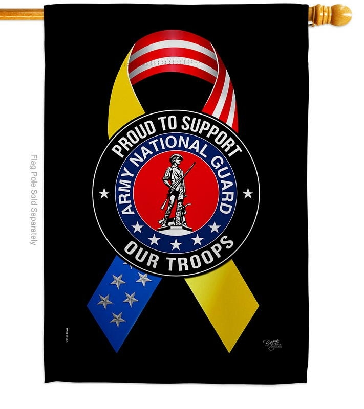 Support Army National Guard Troops House Flag