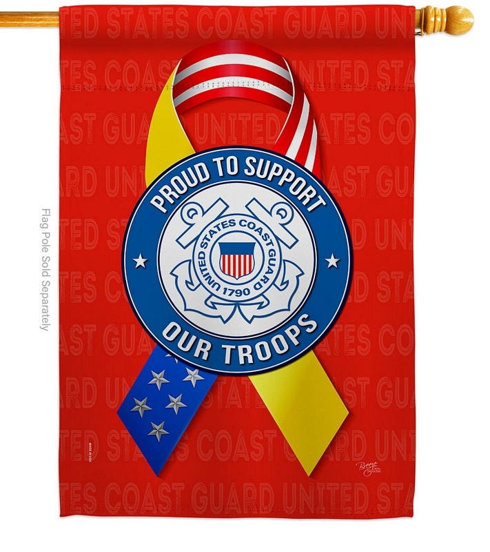Support Coast Guard Troops House Flag