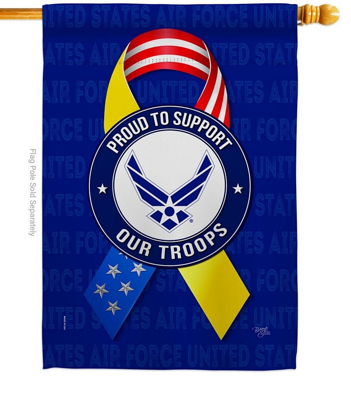 Support Air Force Troops House Flag