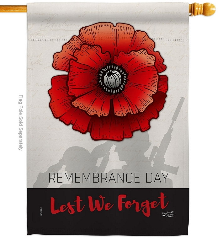 Remembrance Day House Flag