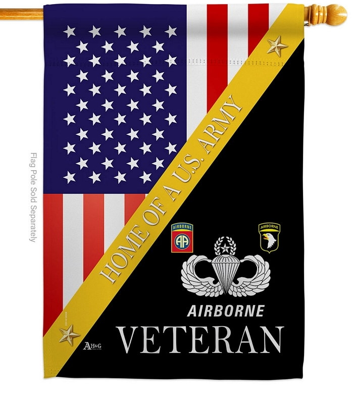 Home Of US Airborne House Flag