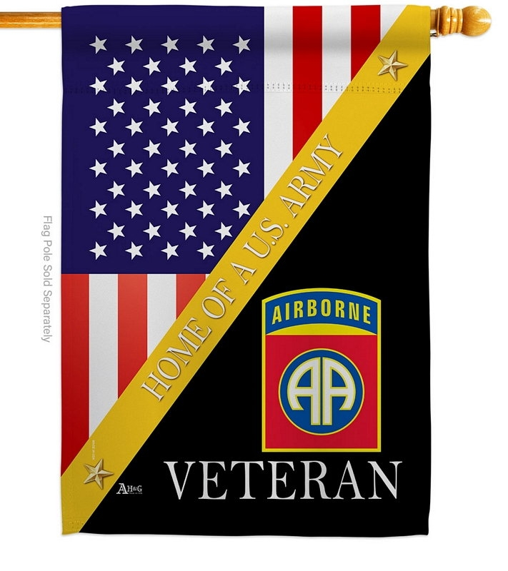 Home Of 82nd Airborne House Flag