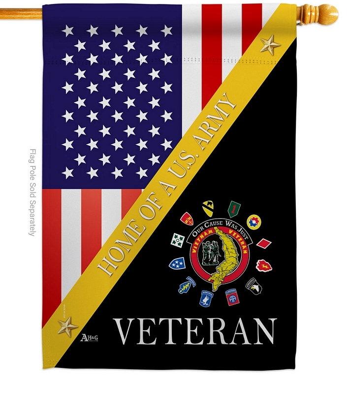Home Of Vietnam Veterans House Flag