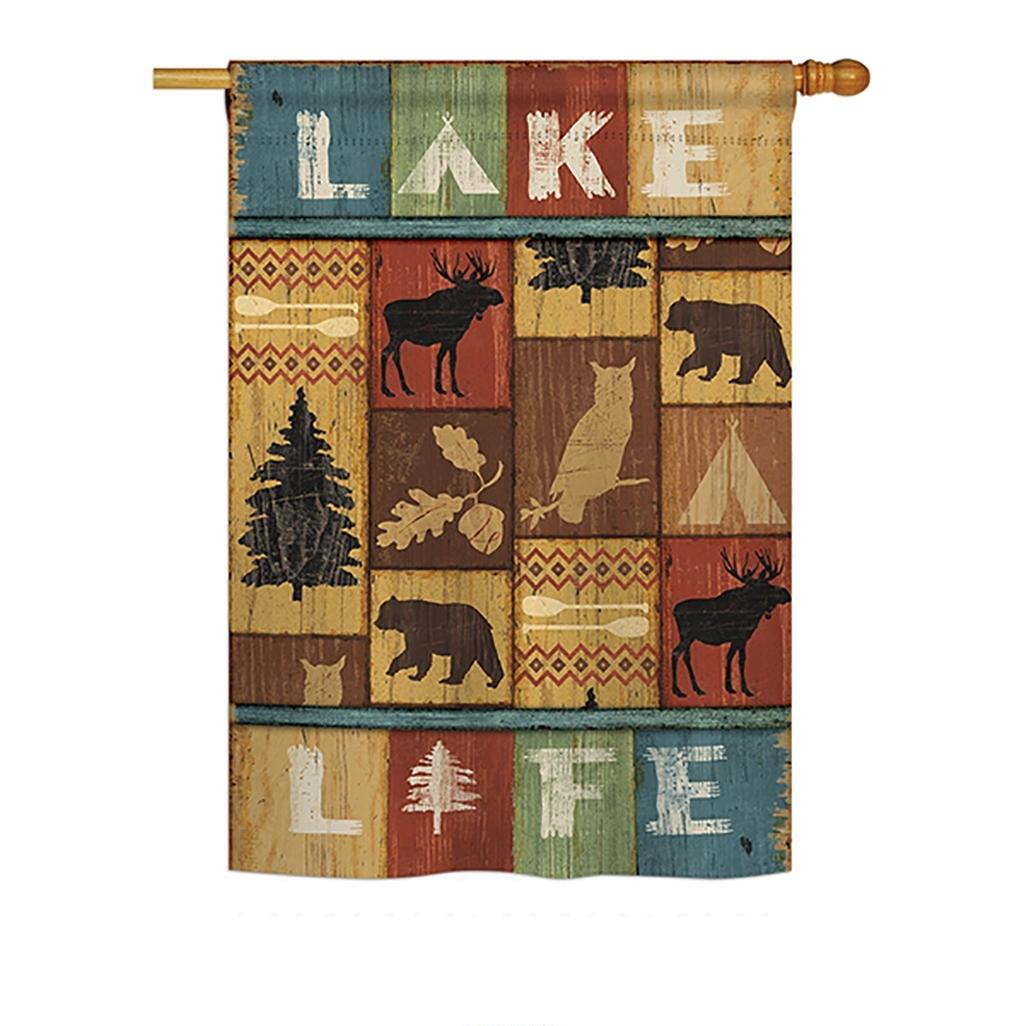 Lake Life House Flag