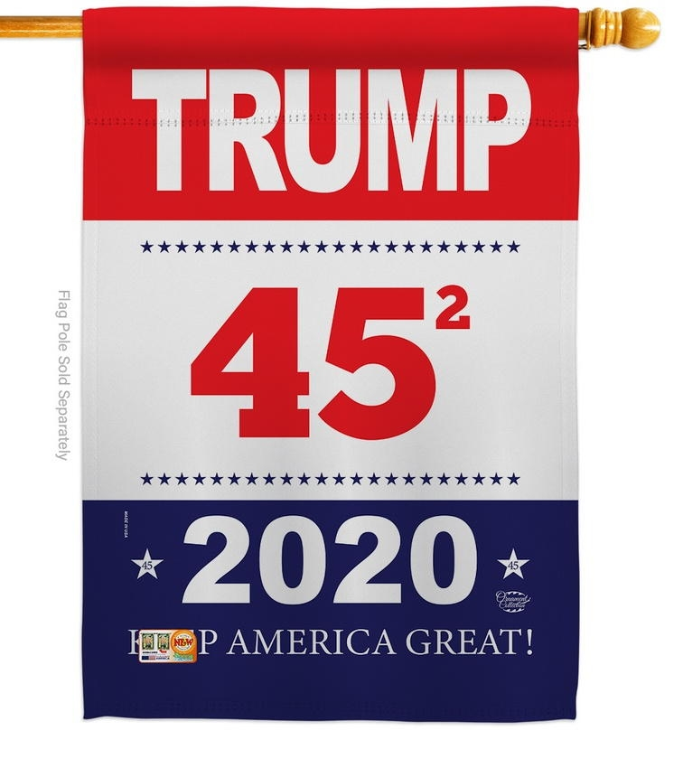 Trump Keep America Great House Flag