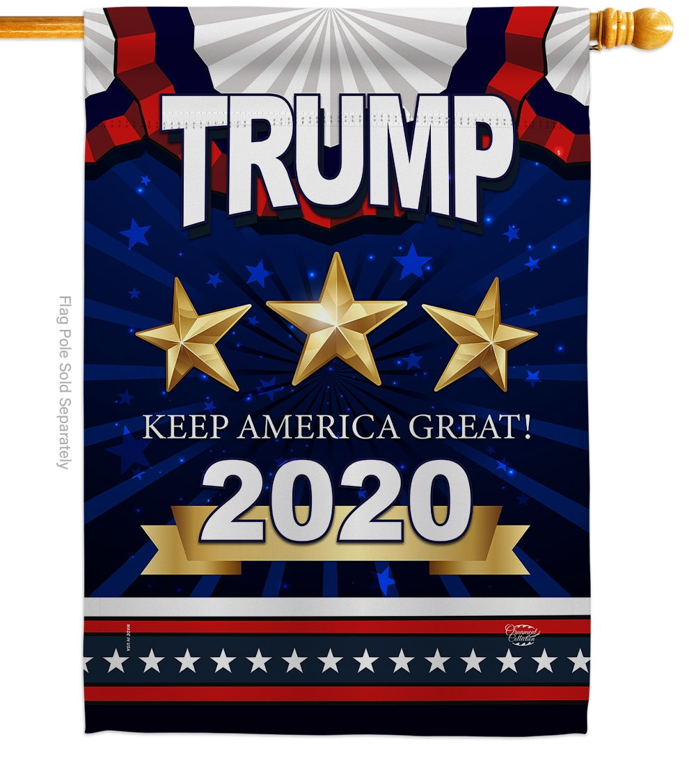 Keep America Great Trump House Flag