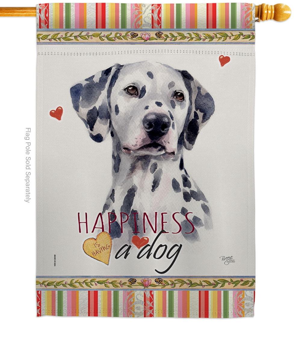Dalmatian Happiness House Flag