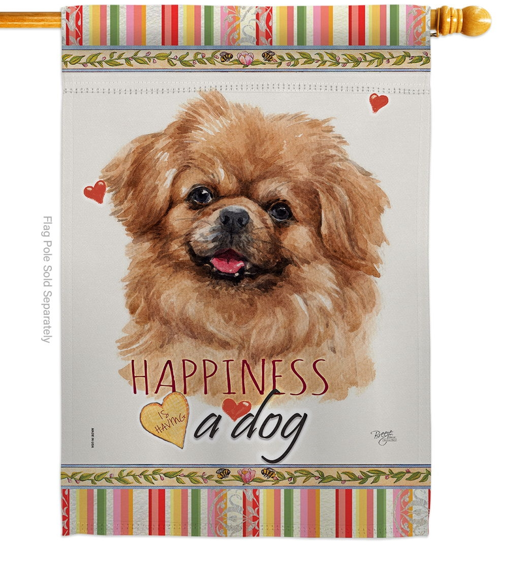 Tibetan Spaniel Happiness House Flag
