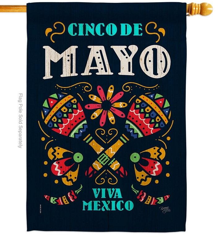 Viva Mexico House Flag