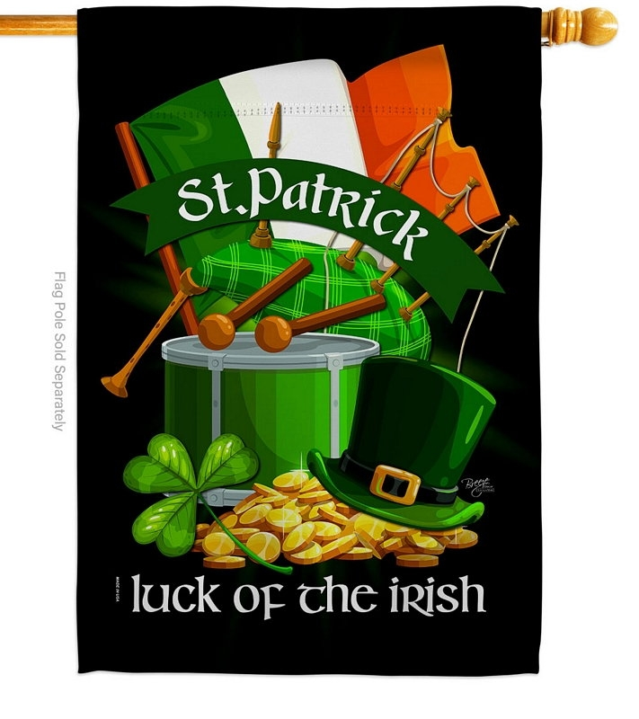 Luck Of The Irish Decorative House Flag