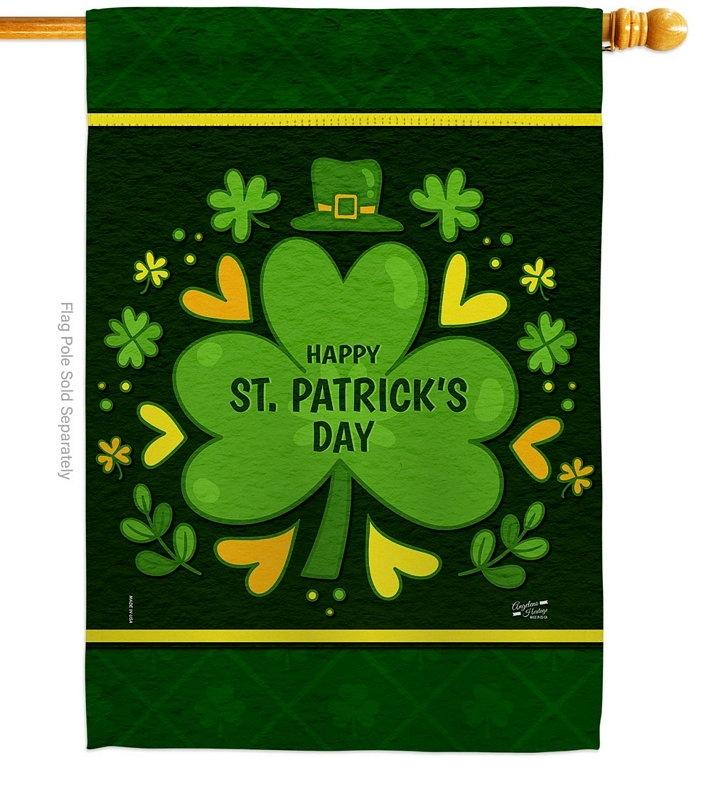St. Pat's Clover House Flag