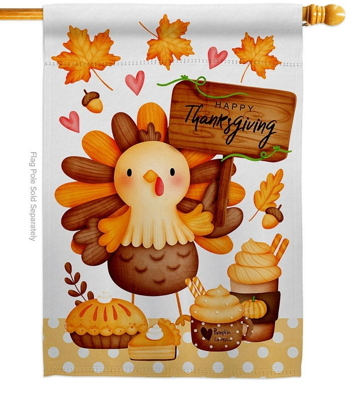 Sweet Turkey House Flag