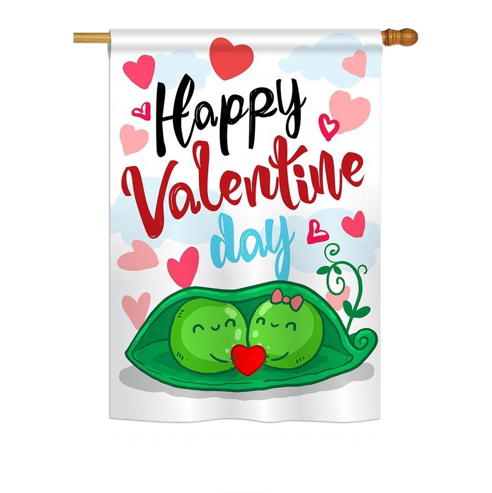 My Sweet Peas Valentine House Flag