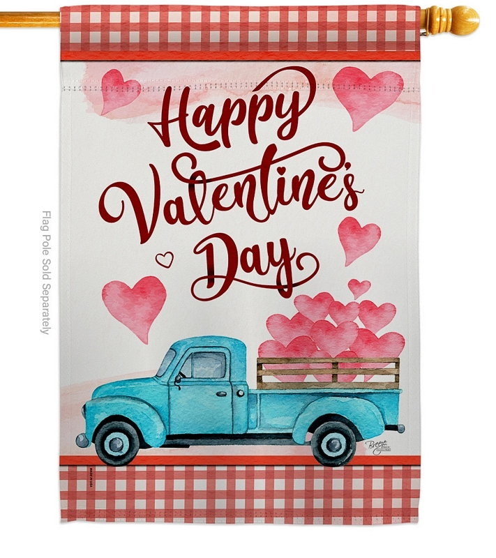 Valentines Truck House Flag
