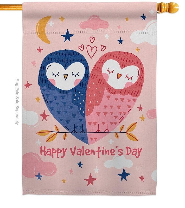 Owl Love House Flag