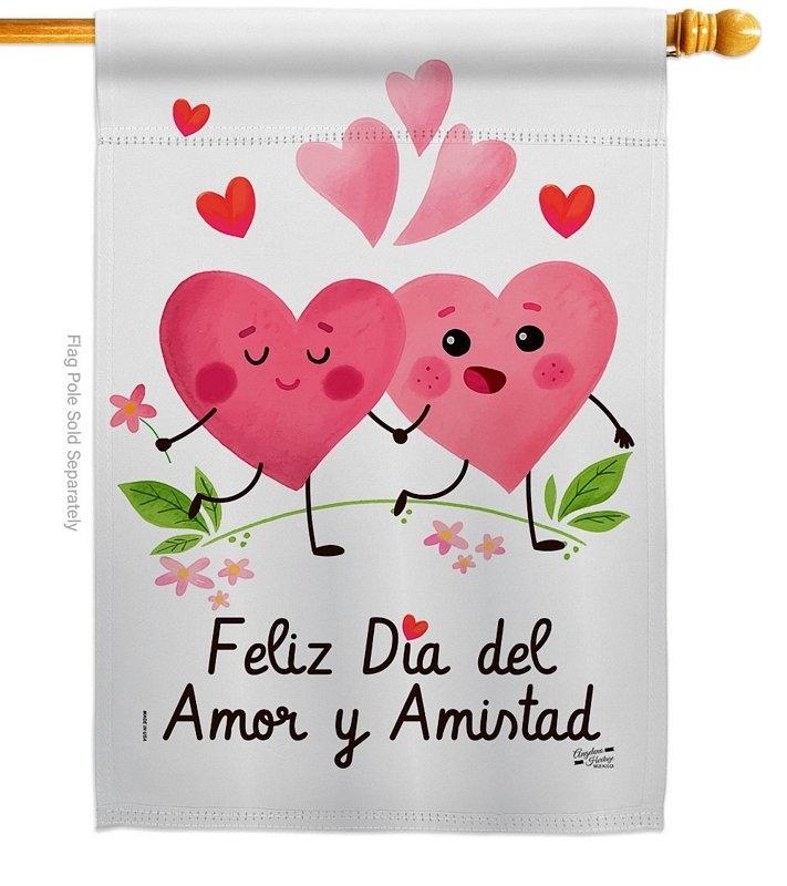 Feliz Dia Del Amor House Flag