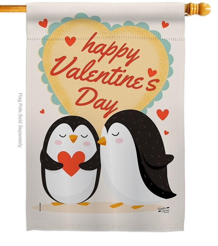 Penguins Love House Flag