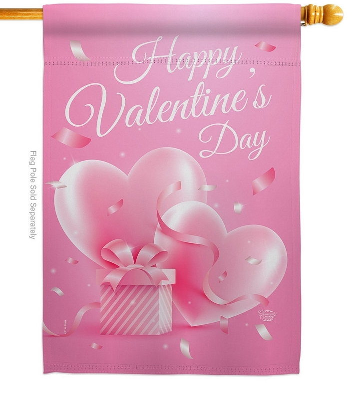 Valentines Gift House Flag