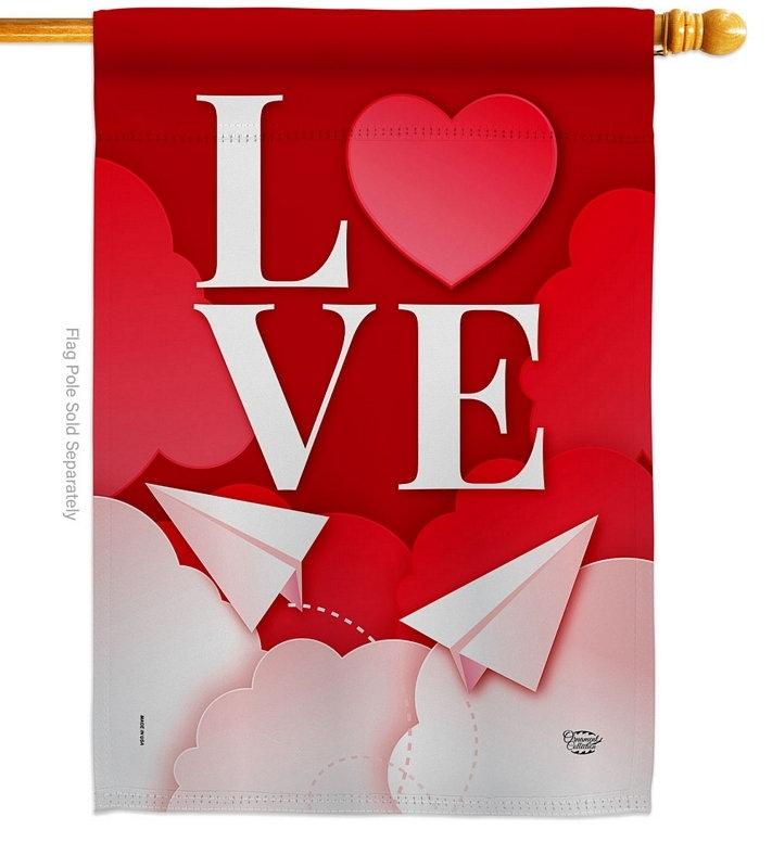 Paper Love Plane House Flag
