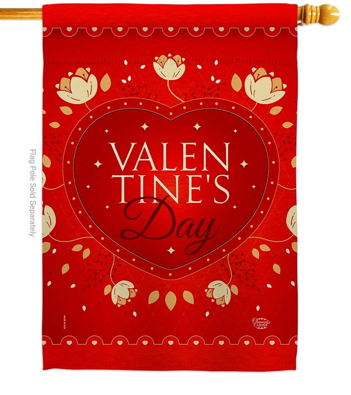 Valentines House Flag