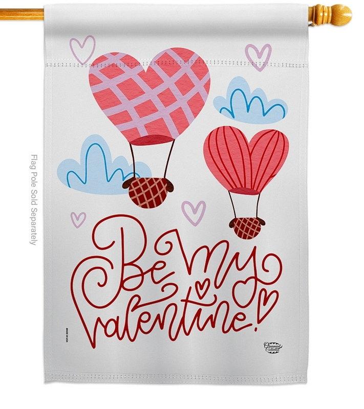 Be My Valentine House Flag