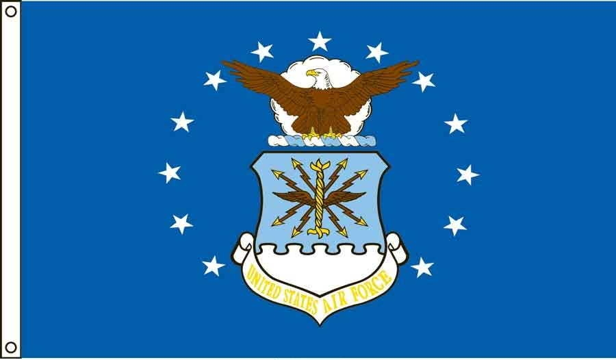Air Force US Made, High Wind Flag 4' x 6'