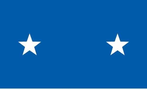 3' x 5' 2 Star Air Force High Wind, US Made Flag
