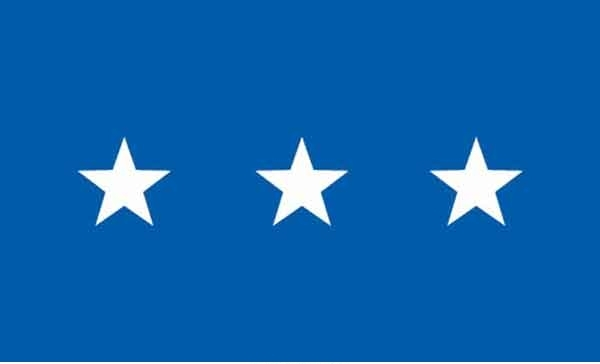 3' x 5' 3 Star Air Force High Wind, US Made Flag