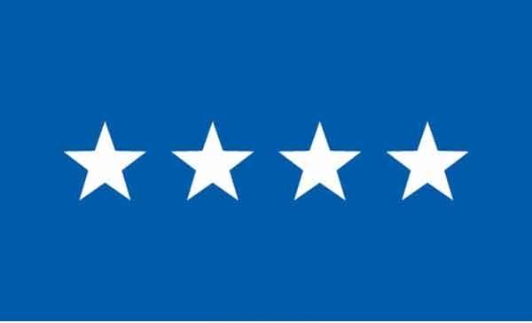 3' x 5' 4 Star Air Force High Wind, US Made Flag