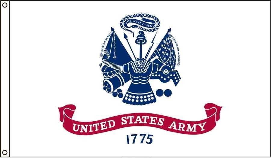 Army US Made, High Wind Flag 2' x 3'