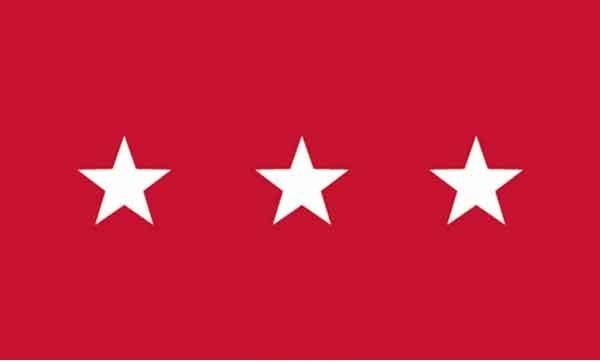3' x 5' 3 Star Army High Wind, US Made Flag