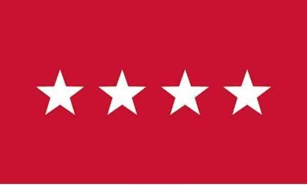 3' x 5' 4 Star Army High Wind, US Made Flag