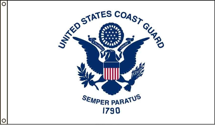 Coast Guard US Made, High Wind Flag 5' x 8'