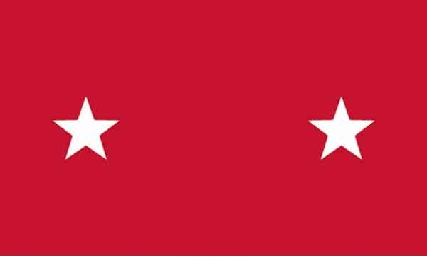 3' x 5' 2 Star Marine Corps High Wind, US Made Flag
