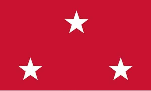 3' x 5' 3 Star Marine Corps High Wind, US Made Flag