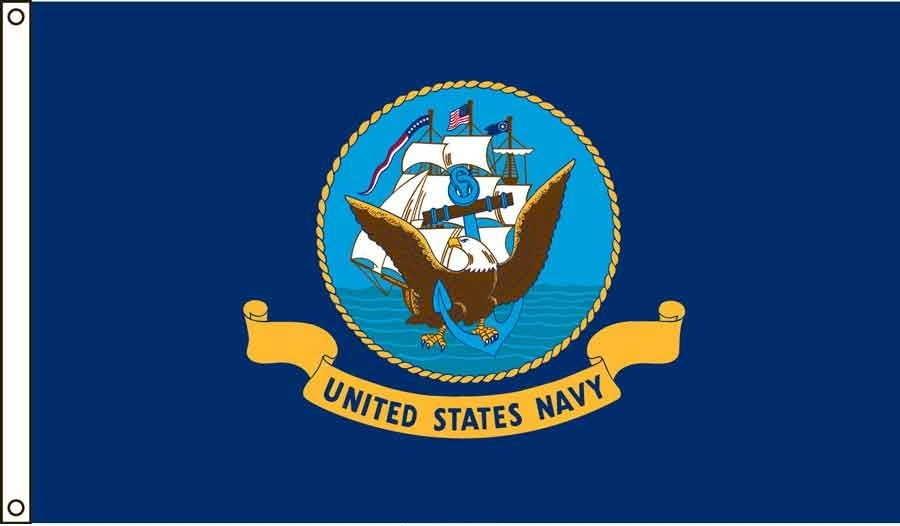 Navy US Made, High Wind Flag 4' x 6'